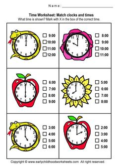 www.earlychildhoodworksheets.com math time matching-clocks-and-time-3.jpg