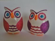 Hey, I found this really awesome Etsy listing at https://www.etsy.com/listing/261554352/2-owl-ceramic-decor-set-mexican-hand