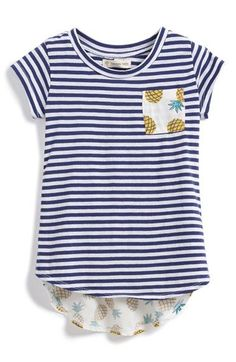 Tucker + Tate 'Knit to Woven' High/Low Top (Toddler Girls, Little Girls & Big Girls) available at #Nordstrom