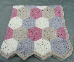 Crochet hexagon blanket, baby blanket, crochet blanket, baby girl baby blanket Informations About Your place to buy and sell all things handmade Pin You can. Crochet Hexagon Blanket, Baby Girl Crochet Blanket, Baby Girl Blankets, Crochet Squares, Crochet Granny, Crochet Blanket Patterns, Crochet Baby, Crochet Blankets, Granny Squares