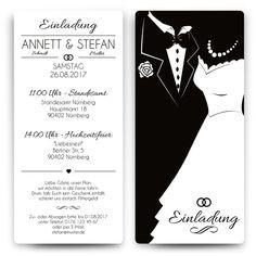 Hochzeitseinladungen - Black and White Brautpaar - Weiß #hochzeit #einladung #hochzeitseinladung #invitation #white #wedding #whitewedding #brautpaar #elegant