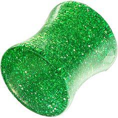 Zielony+wyprofilowany+pełny+tunel+z+brokatem