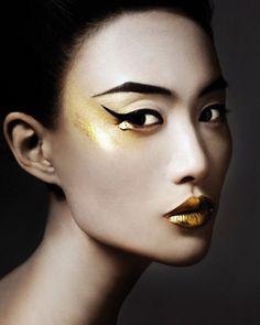 "INSPIRATION: ""Lustre"" GLASS MAGAZINE F/W'12 MUA: Alice Ghendrih HAIR: Yusuke Taniguchi PHOTO: Bojana Tatarska"