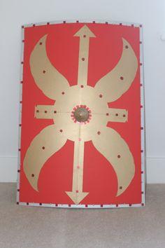 DIY Roman Shield - the cardboard back hold looks great.