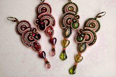 Long Soutache Earrings | by BeadsRainbow