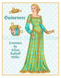 Prachtig getekend originele papieren poppetjes. Pop en 4 kostuums afgedrukt op 5 vellen 8.5x11 kaart van de voorraad.