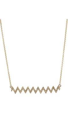Jennifer Meyer Diamond Zig Zag Necklace. Check this out @Jenn L Meyer (Designing Diva Interiors)