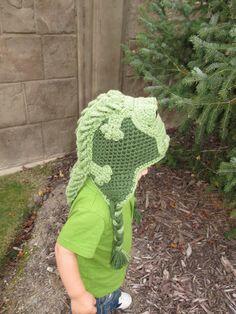 Crocodile / Alligator Crochet Hat w/ Earflaps by BriabbyHats, $42.99