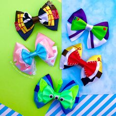 Our Woody's Roundup collection is up in our shop! I really love our new additions 💚Our shop link is in the bio! Disney Hair Bows, Diy Disney Ears, Disney Diy, Disney Crafts, Hair Bow Tutorial, Headband Tutorial, Flower Tutorial, Bow Template, Disney Colors