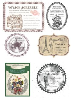 Printable Tags, Free Printables, Decoupage, Poster Ads, Retro Posters, France, Vintage Tags, Ephemera, Diy Projects