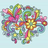 Groovy 추상적임 노트북 Doodles