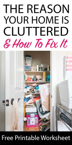If you're drowning in clutter, this easy printable and technique can help your home stay organized. It totally helped with my decluttering process!