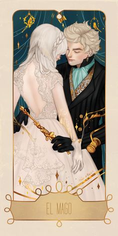 This is a gallery-quality giclée art print on cotton rag archival paper, printed with archival inks. Story Inspiration, Character Inspiration, Character Art, Character Design, The Magicians, The Magician Tarot, Art Nouveau, Fantasy Couples, Mysterious Girl