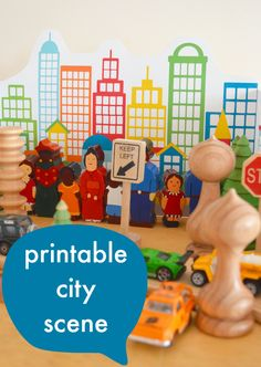 printable play town, along with other great ideas for imaginary play for preschoolers :: my town theme :: where I live activity
