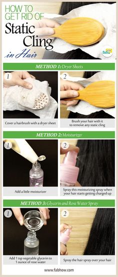 Home Remedy to Get Rid of Static Cling in Hair!
