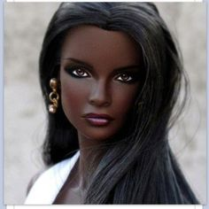 Barbie doesn't have to have fair skin and blond eyes she can have dark skin and brown eyes and be just as beautiful!