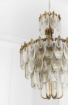 """A Japanese Art Deco chandelier from [The Bronte Tram](http://www.brontetram.com/