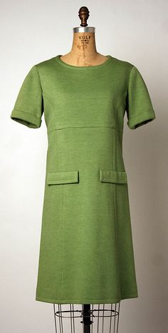 Dress André Courrèges  (French, born 1923) Date: 1963 Culture: French Medium: wool Dimensions: [no dimensions available] Credit Line: Gift of Kimberly Knitwear Inc.