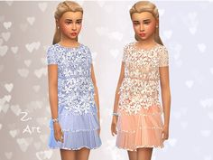 I can not help it, but I love little girls dresses. This is one with chiffon skirt and lace top :D  Found in TSR Category 'sims 4 Female Child Everyday'