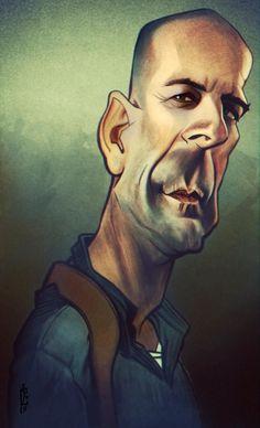 Bruce Willis  Caricature by Bogdan Covaciu , fromBaia Mare, Romania