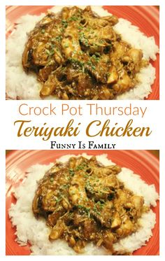 This Crockpot Teriyaki Chicken recipe is a quick and easy dinner idea your family will love! YUM!