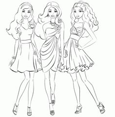 Barbie Coloring Pages for Girls Barbie Coloring Pages, Disney Princess Coloring Pages, Cat Coloring Page, Coloring Pages For Girls, Cartoon Coloring Pages, Coloring Pages To Print, Free Printable Coloring Pages, Coloring For Kids, Coloring Sheets