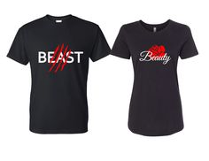 Beauty and the Beast Couples Shirts // Belle // Beast // Disney Shirts by OurMagicalDesigns on Etsy https://www.etsy.com/listing/478992136/beauty-and-the-beast-couples-shirts