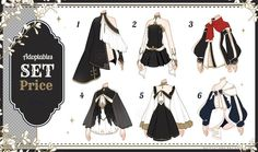 [Adopt Auction] Fantasy Outfits 29 [ OPEN ] by QuinnyIlada on DeviantArt Clothes Draw, Manga Clothes, Drawing Anime Clothes, Anime Outfits, Boy Outfits, Cute Outfits, Casual Outfits, Fashion Design Drawings, Fashion Sketches