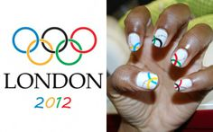 Awesome Olympic nail art