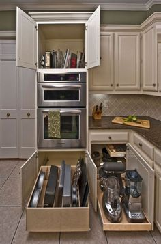 Cool 59 Kitchen Cabinet Organization Hack Ideas https://bellezaroom.com/2017/10/07/59-kitchen-cabinet-organization-hack-ideas/