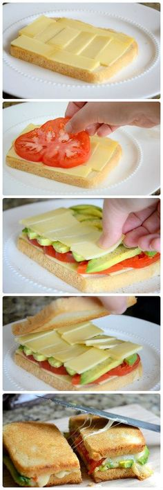 Healthy Snacks For Kids Grilled Cheese with Avocado and Heirloom Tomato - 16 Healthy Spring Recipes for Kids Healthy Spring Recipes, Healthy Snacks, Healthy Avocado Recipes, Avocado Sandwich Recipes, Avocado Burger, Avocado Toast, Healthy Life, I Love Food, Good Food