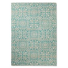 Our new dining room rug || Area Rug Savanna Turquoise 5'X7' - Threshold™