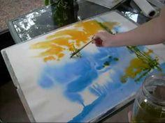 'Wetlands' watercolor painting by Julianne Felton -- video image copyright Julianne Felton 5-31-2010