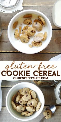 Gluten-Free Cookie Crunch Cereal - Crunchy, perfectly bite-sized and gluten-free, vegan, and nut-free, this Gluten-Free Vegan Cookie Crunch Cereal will be a new favorite with kids and adults! Keto Cereal, Crunch Cereal, Healthy Cereal, Healthy Breakfast Cereal, Vegan Gluten Free Cookies, Gluten Free Cereal, Gluten Free Sweets, Healthy Cookie Recipes, Cereal Recipes