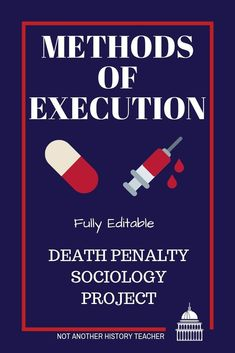 Engage students in your Sociology class with this in-depth death penalty unit!  There is a variety of media (videos) included that will lead to critical thinking and discourse from your students. It is a complete 5-day unit that could be extended with more videos. There are lesson plans, videos, handouts, activities, and one death penalty project included.