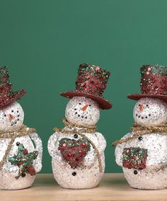 Look what I found on #zulily! Fresh Holiday Snowman Figurine Set by Transpac Imports #zulilyfinds
