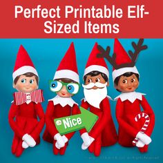 The Elf on the Shelf props   Free printable elf props   Printable props for elves Elf On Shelf Printables, Awesome Elf On The Shelf Ideas, Elf Magic, Christmas Elf, Xmas, Buddy The Elf, Christmas Traditions, Holiday Fun, Crafts For Kids