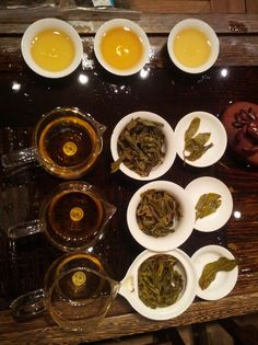 We are tasting the tea from one mountain but different seasons.