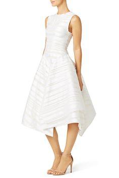 White Flag Dress by Christian Siriano