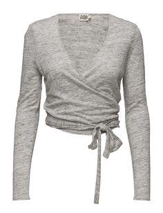 Filippa Wrap Cardigan (Grey Melange) (899 kr) - Twist & Tango   Boozt.com