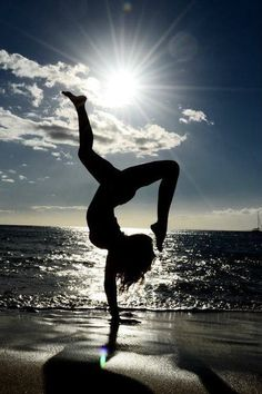 yoga pose on the beach #Yoga