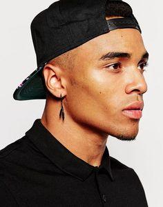 Hoop Earrings Men Feather Mens Earings Male Fashion