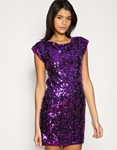 TFNC+Sequin+Embellished+Dress+With+Cut+Out+Back