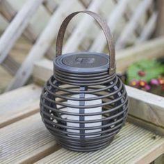 Round Solar Powered Rattan Lantern Light 15cm by Lights4fun: Amazon.co.uk: Garden & Outdoors