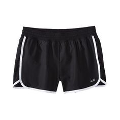 C9 Champion Women's Woven Run Short Black/White XXL ($17) ❤ liked on Polyvore featuring activewear, activewear shorts, shorts, sport, activewear bottoms, apparel and c9 by champion