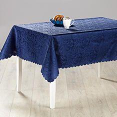 Tischdecke Jacquard blau, 130 x 160 cm