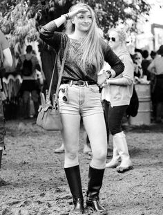 Sophie Turner at Glastonbury Festival 2014