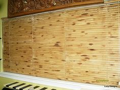Faux Bamboo Mini Blinds.  These are just plain mini-blinds! ** I MUST do this at deer camp