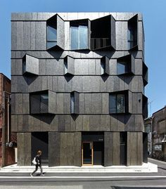 KURO Building by KINO Architects. Location: #Tokyo #Japan #architectdesigne Tag your friends.