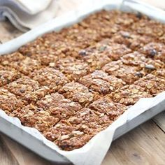 Cranberry, seed and oat crunchies Oatmeal Cookie Bars, Oat Cookies, Oatmeal Cookie Recipes, Healthy Cookies, Healthy Bars, Tray Bake Recipes, My Recipes, Baking Recipes, Snack Recipes